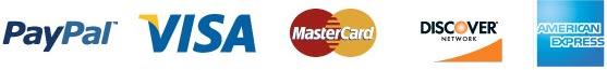 paypal, visamastercard, discover, american express logos